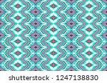 ikat seamless pattern. vector... | Shutterstock .eps vector #1247138830