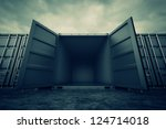 picture of grey open containers ... | Shutterstock . vector #124714018