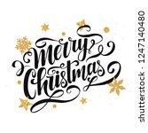 merry christmas vector... | Shutterstock .eps vector #1247140480