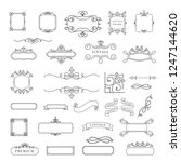 collection of vintage ornament... | Shutterstock .eps vector #1247144620