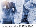 modern way of exchange. bitcoin ... | Shutterstock . vector #1247145160