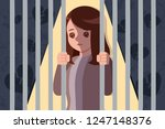upset and depressed woman... | Shutterstock .eps vector #1247148376