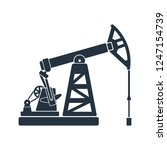 oil pump isolated icon on white ... | Shutterstock .eps vector #1247154739