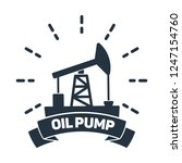 oil pump with text isolated... | Shutterstock .eps vector #1247154760