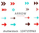 set of modern arrows | Shutterstock .eps vector #1247155963