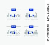business relations icon set.... | Shutterstock .eps vector #1247160826