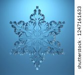 transparent snowflake isolated... | Shutterstock . vector #1247161633