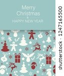 blue merry christmas and happy... | Shutterstock .eps vector #1247165500