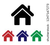 home icon vector. house | Shutterstock .eps vector #1247167273