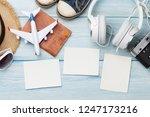 travel vacation background... | Shutterstock . vector #1247173216