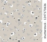 cute floral pattern of small... | Shutterstock .eps vector #1247173636