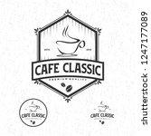 cafe classic logo vintage | Shutterstock .eps vector #1247177089