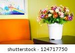 aromatic flower in living room | Shutterstock . vector #124717750