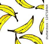 painting banana pattern | Shutterstock . vector #124718464