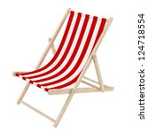 Render Of A Red Deck Chair ...