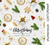 christmas greeting card.... | Shutterstock .eps vector #1247190469