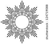 round calligraphic lotus border ... | Shutterstock . vector #124719088