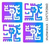 ethnic design. ikat pattern.... | Shutterstock .eps vector #1247192860