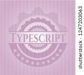 typescript pink emblem. vintage. | Shutterstock .eps vector #1247203063