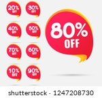 sale tags set vector badges... | Shutterstock .eps vector #1247208730