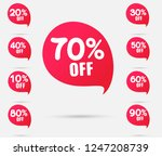 sale tags set vector badges... | Shutterstock .eps vector #1247208739
