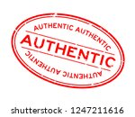 grunge red authentic word oval... | Shutterstock .eps vector #1247211616