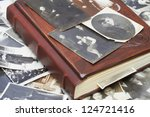 close up of an album and... | Shutterstock . vector #124721416