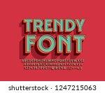 vector trendy 3d font. set of... | Shutterstock .eps vector #1247215063