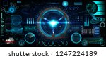 head up interface set for gui ... | Shutterstock .eps vector #1247224189
