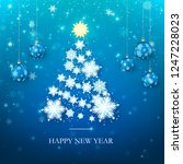 happy new year greeting card in ... | Shutterstock .eps vector #1247228023