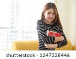 happy beautiful asian woman... | Shutterstock . vector #1247228446