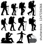 collection of silhouettes of... | Shutterstock .eps vector #1247236366
