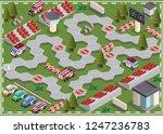 race track. board game.... | Shutterstock .eps vector #1247236783