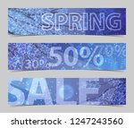 discount banners with blooming... | Shutterstock .eps vector #1247243560
