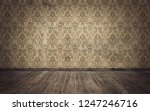 Stock photo empty old vintage room background d rendering 1247246716