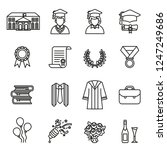 graduation day. college  ... | Shutterstock .eps vector #1247249686