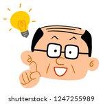 senior men flashing middle aged ... | Shutterstock .eps vector #1247255989