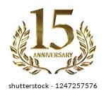 15th anniversary logo of... | Shutterstock . vector #1247257576