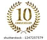 50th anniversary logo of... | Shutterstock . vector #1247257579