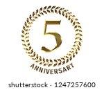 5th anniversary logo of... | Shutterstock . vector #1247257600