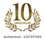 50th anniversary logo of... | Shutterstock . vector #1247257603
