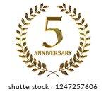 5th anniversary logo of... | Shutterstock . vector #1247257606