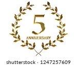 5th anniversary logo of... | Shutterstock . vector #1247257609