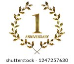 first anniversary logo of... | Shutterstock . vector #1247257630