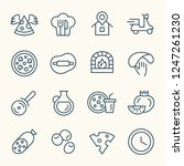 pizza line icons   Shutterstock .eps vector #1247261230