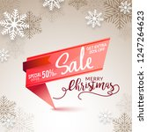 christmas sale banner or poster ... | Shutterstock .eps vector #1247264623