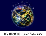 5g network wireless systems and ... | Shutterstock . vector #1247267110