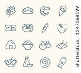asian food line icons | Shutterstock .eps vector #1247268199