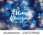 christmas background with... | Shutterstock .eps vector #1247270920