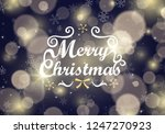 christmas background with... | Shutterstock .eps vector #1247270923